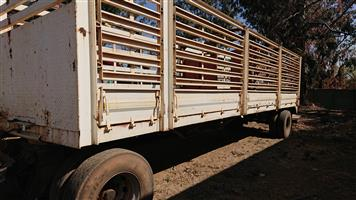 2 Axle Drawbar Cattle Body Trailer