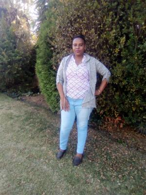 Lesotho domestic worker and baby sitter looking for stay in work