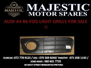 AUDI A4 B6 FOG LIGHT GRILL FOR SALE