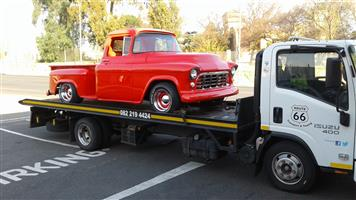 George, PE to Gauteng. Classic Car Transport with rollback truck.
