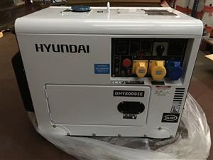 6.80 Rated kVA Hyundai 6kW 'Silent' Standby Diesel Generator DHY8000SE