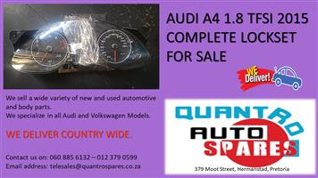 AUDI A4 1.8 TFSI 2015 COMPLETE LOCKSET FOR SALE