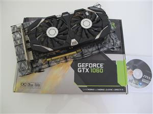 MSI GTX 1060 3GT OCV2 - graphics card - GF GTX 1060 - 3 GB