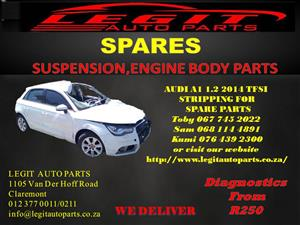 AUDI A1 1.2 2014 STRIPPING FOR SPARE PARTS