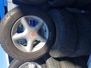 Daihatsu Terios mag rims and tyres 205.70R15
