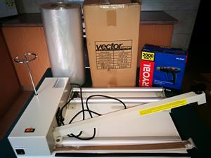 Shrink Wrap Machine - Includes Heat Gun & Vector Centrefold 15 Micron