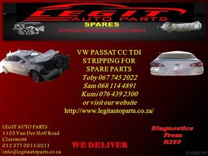 VW PASSAT CC TDI STRIPPING FOR SPARE PARTS