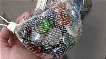 GLASS MARBLES or Flat beads for arts and crafts mosaics or decorate flower bowls