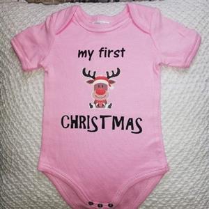 My first Christmas Babygrow