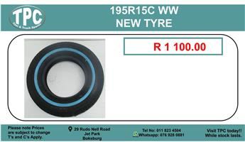 195R15C WW NEW TYRE FOR SALE.
