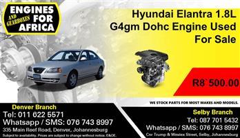 Hyundai Elantra 1.8L G4gm Dohc Engine Used For Sale.