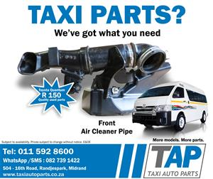 Toyota Quantum Front Air Cleaner Pipe - quality used spare parts for sale at Taxi Auto Parts - TAP