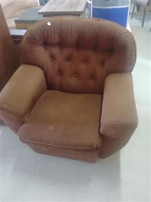 Brown 1 seater couch for sale