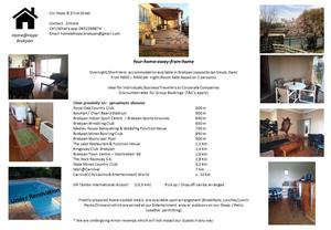 Overnight/short-term accommodation in Brakpan