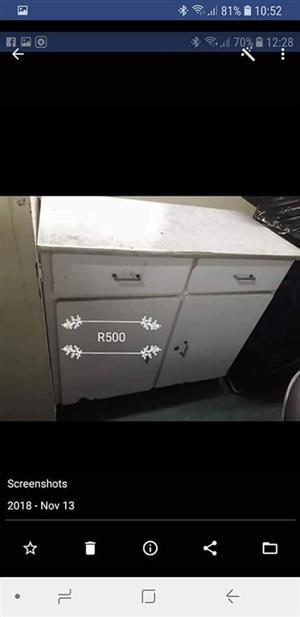 White steel cupboard for sale