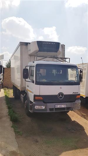 2002 Mercedes Benz Atego 1317 Fridge Truck with Carrier Unit