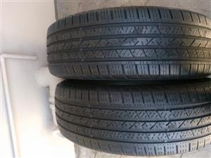 Two 80% 225/65/17 Continental  Tyres fits Honda CRV and RAV4 R850 each R1700 for both tyres
