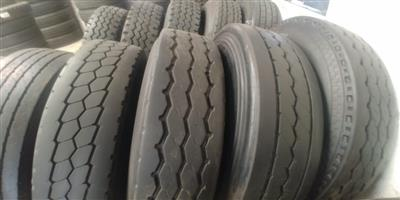 SECOND HAND TRUCKL TYRES,ALL SIZES,GOOD DISCOUNTS OFFERED,GUARANTEED