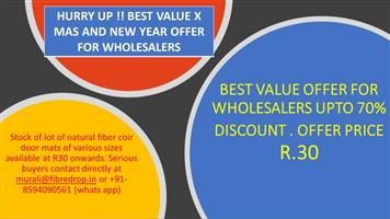 DISCOUNTED WHOLESALE OFFER FOR RETAILERS