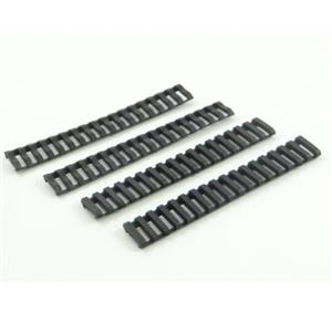 Rubber Ladder Rail Cover for Airsoft Rifles - Black