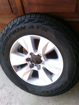 Latest Toyota Raider 17 inch Spare Wheel with 95% tread Pirelli ATR Tyre R2950