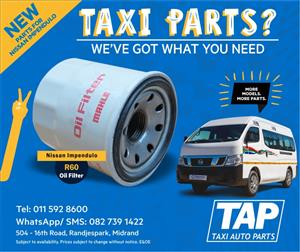 NEW Parts for Nissan Impendulo - OIL FILTER - Taxi Auto Parts - TAP