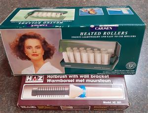 Carmen Heated Rollers and Hotbrush. Bargain price!