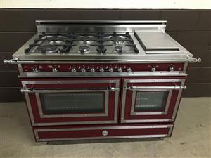 50% Hot Sale Bertazzoni 48Inch Heritage Series Range Gas 6 Burners With Griddle Burgundy
