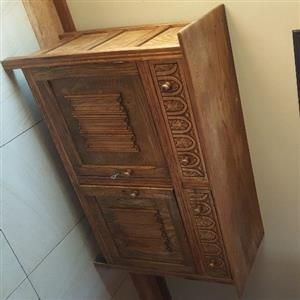 Antique oak sideboard cabinet cupboard
