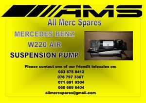 MERCEDES BENZ W220 AIR SUSPENSION PUMP FOR SALE