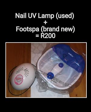 Nail uv lamp and foot spa
