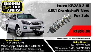 Isuzu KB280 2.8L 4JB1 Crankshaft New