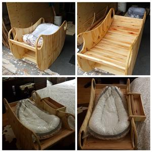 Homemade/custom bady rocking crib