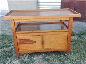 Wooden food server trolley for sale