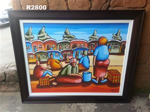 Original Boniface Matemba Acrylic Painting (1460x1195)