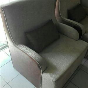 2 Large single seater couches