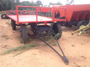 U Make 4 Wheel 5 Ton Flatbed Trailer / 4 Wiel 5 Ton Platbak Wa Pre-Owned Trailer