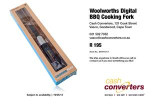 Woolworths Digital BBQ Cooking Fork