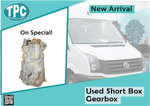 Volkswagen Crafter Used Short Box Gearbox for sale at TPC