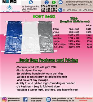 Washable Body Bags
