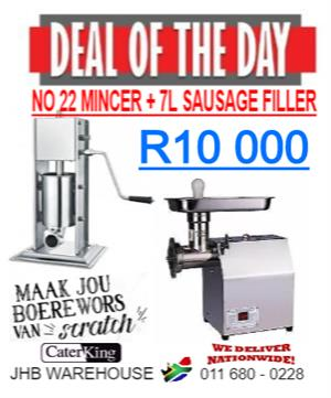 MEAT MINCER + WORS MAKER COMBO
