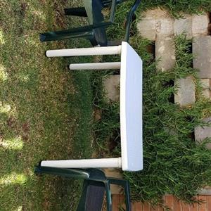 Garden table with chairs