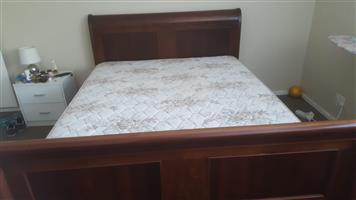 Mahogany Sleigh Bed
