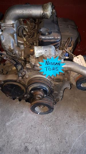 Nissan Hardbody 2.5 diesel TD25 engine for sale.