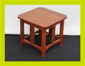 Vintage Square Teak Lamp Table - SKU 828
