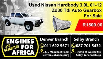 Used Nissan Hardbody 3.0L Tdi 01-12 ZD30 Auto Gearbox For Sale