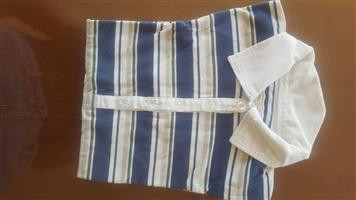 White and blue striped shirt for sale