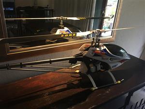 2x Raptor 50 flybarless nitro helicopter