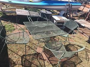 Grey 4 seater garden set for sale