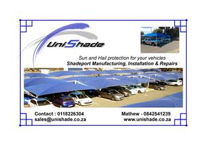Shadeport sales and repairs. Prompt service and best prices.